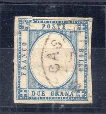 FRANCOBOLLI ANTICHI STATI 1861 NAPOLI 2 GRANA ANNULLO CASANO N° RIF 6237