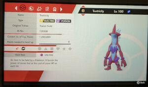 Shiny Toxtricity 6IV Max EVs Competitive Pokemon Sword Shield FAST DELIVERY