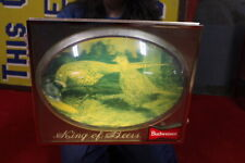 """Vintage 1950s Budweiser Beer Hunting Scene Gas Oil 18"""" Bubble Front Lighted Sign"""