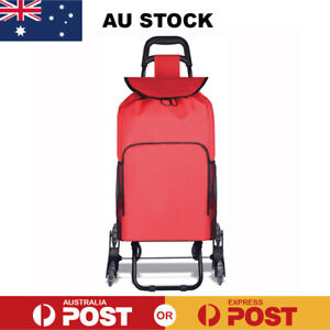 Foldable Trolley Shopping Bag Stair Climber Shopping Bag Grocery Basket Cart