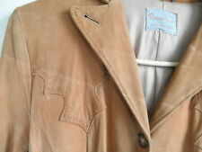 Vintage USA Ladies Cowgirl Western Pioneer Wear Butter Soft Leather JACKET NICE