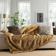 Luxury Faux Fur Throw Blanket Plush Micro Mink Hypoallergenic By Puffy