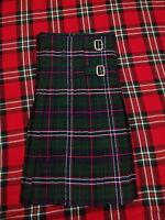Scottish National Tartan Kilt 8 Yards/Kilt 8 Yard Scottish National/Gents Kilts