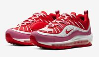 Nike Air Max 98 Pink Red White Running Leather Womens CI3709-600 Flamingo NEW