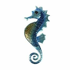 Metal Seahorse Sculpture With Glass Wall Artistic Crafts Home Garden Decoration