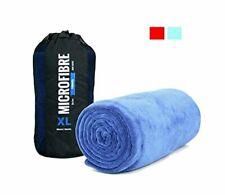 XL Premium Microfibre Beach/Travel/Swim Towel - 2x1m - 400GSM (Blue)