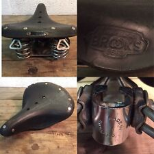 Rare Brooks B 66 S Saddle vintage road bike  Idéale Peugeot Randonneuse Leather