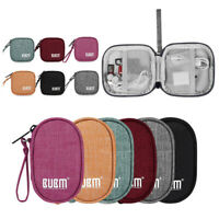 Portable Travel Earphone USB Data Charger Cable Organizer Storage Pouch Bag Case