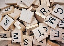 100 Wooden Scrabble Letters Numbers Tiles Arts & Craft Embellishment Replacement