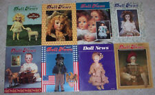 8 Issues of DOLL NEWS Magazine Lot 1980s Paper Dolls UFDC United Federation Club
