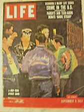 LIFE Sept 9, 1957  Edsel debut, D Day, space race, 1950s US crime, Ferlinghetti