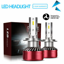 H7 12000LM 60W LED Headlight Kit Bulbs Low Beam 6000K White Light Headlamps DTB