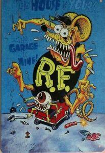 RAT FINK Rustic Look Vintage Metal Tin Sign MAN CAVE Shed Garage & Bar Sign