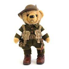 The Great War LTD ED Corporal Cohen The Lone Pine Teddy Bear w WW1 Medals Trio
