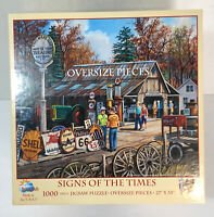 "Oversized 27"" x 35"" 1000 Pieces Puzzle ""SIGNS OF THE TIMES"" by SunsOut"