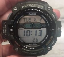 Casio SGW300HB-3AV Twin Sensor Watch Barometer Altimeter Alarm Green Nylon Band