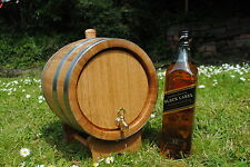 Barril De Madera 5 L litros de Roble para espíritu de vino, whisky, Bourbon Reino Unido Entrega Rápida