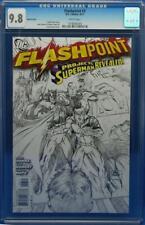 Flashpoint #3 cgc 9.8 Sketch Cover 1:25 low print run Flash movie