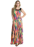 pld61 PLUS SIZE Women Bohemian Maxi Evening Dress 16 18 20 22 24 26 28 RRP$60 AU