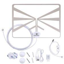 Indoor HDTV Antenna w/ Detachable Amplifier Signal Booster  (50 Miles Range)