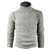 Maenner Mode Kitz Druck realistische Wolle Baumwolle Herren Pullover Mantel W SX