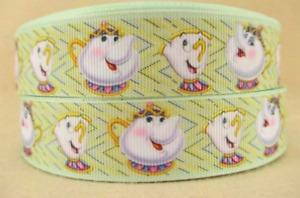 NEW BATB Mrs Potts & Chip Grossgrain Ribbon 25mm - 1M,2M,3M,4M or 5M U Choose