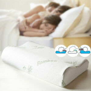 Memory Foam Pillow Bamboo Orthopedic Hypoallergenic Neck Protection Healthcare