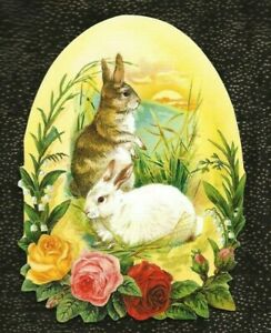 NEW! PUNCH STUDIO EASTER CARD & Env BUNNIES AT LAKES EDGE; SUNSET - Blank Inside