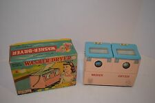Vintage 1960's Nomura Battery Operated Tin Toy Washer/Dryer - Works w/Box