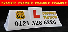 Magnetic Car Roof Sign with Graphics +Text - 2 Colour