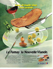 PUBLICITE ADVERTISING 054  1990  SODEBO   LE FUMAY   jambon