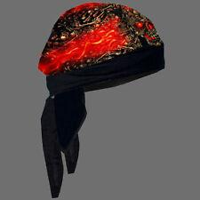 BIKER SKULL MADE OF SKULLS HEAD WRAP  CAP