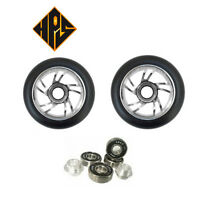 2 PRO STUNT SCOOTER SILVER TWISTER METAL CORE WHEELS 100mm 88A ABEC 11 BEARING 9
