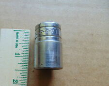 "Used Snap-On Tools Usa 1/2"" Drive 6 Point 11/16"" Shallow Chrome Socket Tw221"