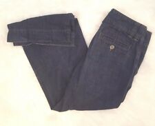 Banana Republic Denim Trousers Size 4 Dark Rinse Wash Wide Leg