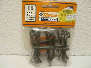 (F14) 1/87 Roco Minitanks H0 298 Figurensatz mit 16 sitzenden Soldaten  NEU
