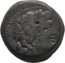 Ancient Greece 2-1 cent BC PIERIA SELEUKIS CIVIC ZEUS THUNDERBOLT PILOI