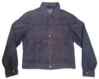 VERSACE Classic V2 Shirt Men's Blue Denim Shirt Size S Long Sleeves Cotton Italy