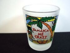 Jamaica me crazy souvenir frosted shot glass