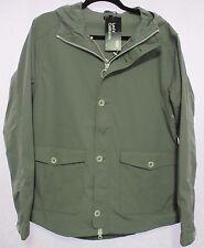 NWT LEVI'S CALIFORNIA Mens M Med Sierra Gray Hooded Rain Trench Coat Jacket $178