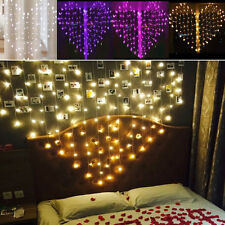 Heart Shape Curtain LED Lamp Wedding Fairy String Lights Garden Light
