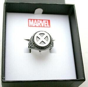 Marvel Comics  X-Men Class 1962 Xaviers School Gifted SS Ring New NOS Box Sz 10