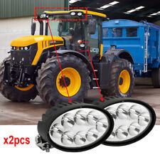 2pcs CREE Led Tractor Work Lights 40W Rotate Bracket 12V Oval Led Spot lights