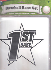 BASEBALL INDOOR BASE SET- 3 Bases- Home Plate- and Pitcher's rubber- $ 3.00 ship