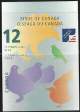 """2001 Canada SC#1893i """"Birds of Canada"""" 0.47¢  - Booklet of 12 stamps MNH"""