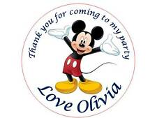 35 Personalised Mickey Mouse Stickers 3 for 2 Thank you Party Seal Birthday