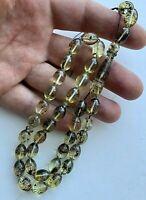 Natural Baltic Amber Islamic Prayer Rosary 21g. Olive 33 Beads Tesbih Misbaha
