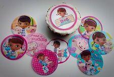 30 Doc McStuffins edible paper, cupcake cookie topper Decorations PRE CUT