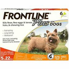 Frontline Plus for Dogs 022 lbs Orange, 6 Month