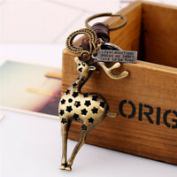 Delicate Alloy Fawn Cowhide Hand Made Unisex Punk Jewelry Gift Backpack Pendant